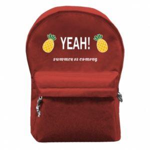 Plecak z przednią kieszenią Yeah summer is coming pineapple