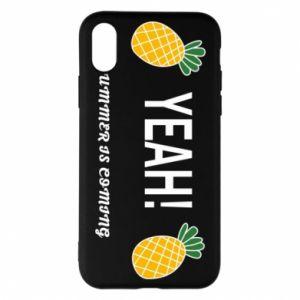 Etui na iPhone X/Xs Yeah summer is coming pineapple