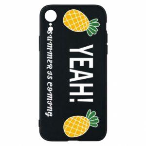 Etui na iPhone XR Yeah summer is coming pineapple