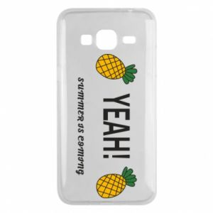 Etui na Samsung J3 2016 Yeah summer is coming pineapple