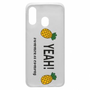 Etui na Samsung A40 Yeah summer is coming pineapple