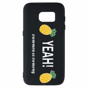 Etui na Samsung S7 Yeah summer is coming pineapple