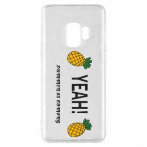 Etui na Samsung S9 Yeah summer is coming pineapple