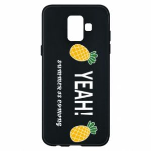 Etui na Samsung A6 2018 Yeah summer is coming pineapple