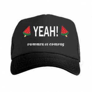 Czapka trucker Yeah summer is coming whatermelon