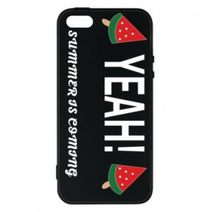 Etui na iPhone 5/5S/SE Yeah summer is coming whatermelon