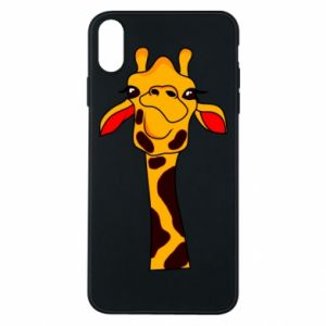 iPhone Xs Max Case Yellow giraffe