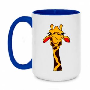 Two-toned mug 450ml Yellow giraffe