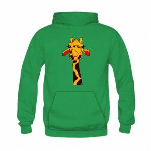 Bluza z kapturem dziecięca Yellow giraffe