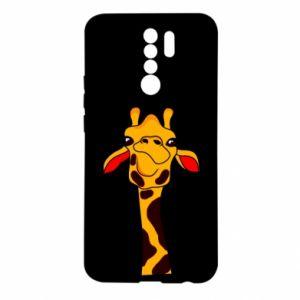 Etui na Xiaomi Redmi 9 Yellow giraffe