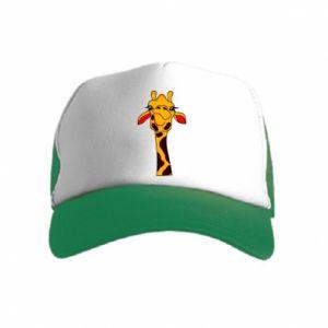 Kid's Trucker Hat Yellow giraffe
