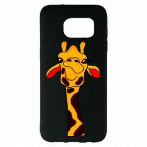Samsung S7 EDGE Case Yellow giraffe