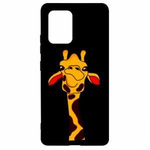 Etui na Samsung S10 Lite Yellow giraffe