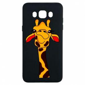 Etui na Samsung J7 2016 Yellow giraffe