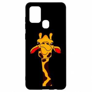 Etui na Samsung A21s Yellow giraffe