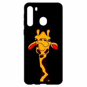 Etui na Samsung A21 Yellow giraffe