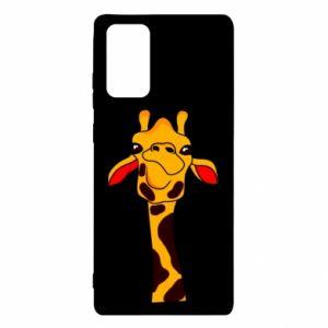 Etui na Samsung Note 20 Yellow giraffe