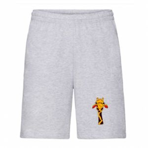 Men's shorts Yellow giraffe