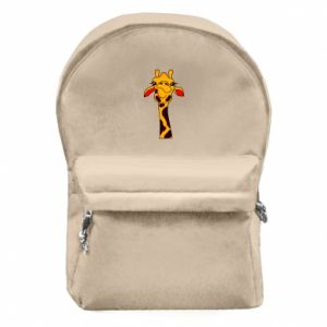 Backpack with front pocket Yellow giraffe