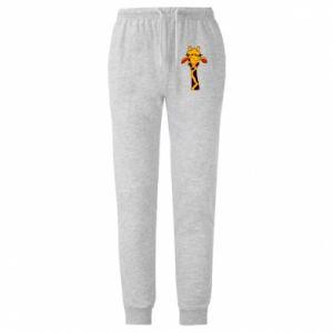 Męskie spodnie lekkie Yellow giraffe - PrintSalon