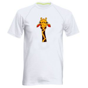Men's sports t-shirt Yellow giraffe