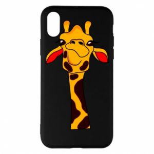iPhone X/Xs Case Yellow giraffe