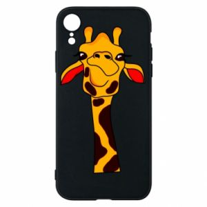iPhone XR Case Yellow giraffe