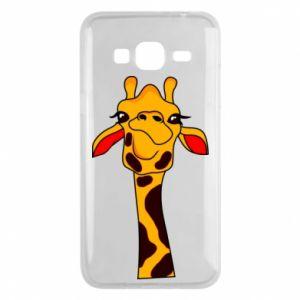Etui na Samsung J3 2016 Yellow giraffe