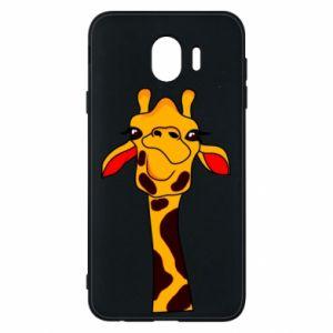 Etui na Samsung J4 Yellow giraffe