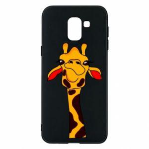 Etui na Samsung J6 Yellow giraffe