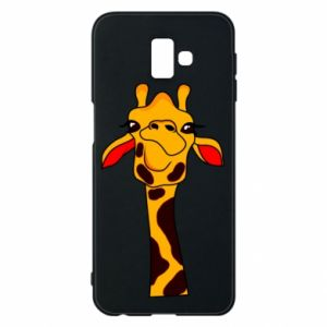 Samsung J6 Plus 2018 Case Yellow giraffe
