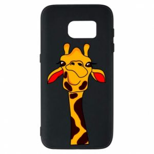 Etui na Samsung S7 Yellow giraffe