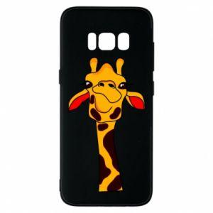 Etui na Samsung S8 Yellow giraffe