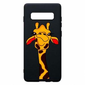 Etui na Samsung S10+ Yellow giraffe