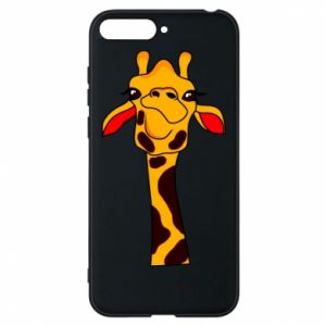 Huawei Y6 2018 Case Yellow giraffe