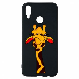 Huawei P Smart Plus Case Yellow giraffe