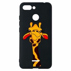 Etui na Xiaomi Redmi 6 Yellow giraffe