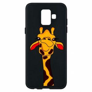 Etui na Samsung A6 2018 Yellow giraffe