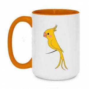 Kubek dwukolorowy 450ml Yellow parrot