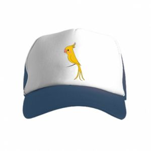 Czapka trucker dziecięca Yellow parrot