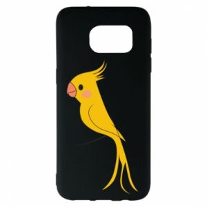 Etui na Samsung S7 EDGE Yellow parrot