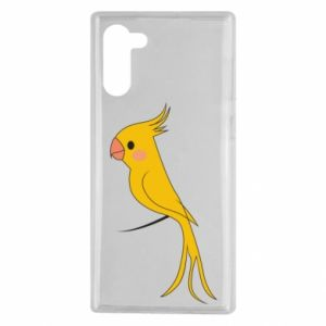 Etui na Samsung Note 10 Yellow parrot