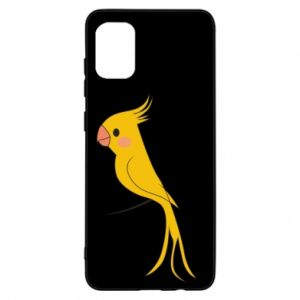 Etui na Samsung A31 Yellow parrot
