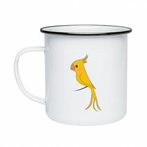 Kubek emaliowany Yellow parrot