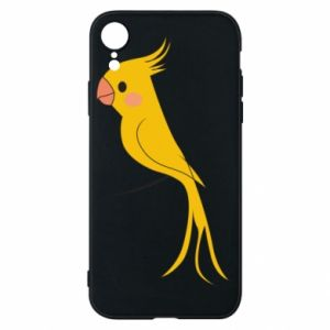 Etui na iPhone XR Yellow parrot