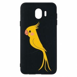 Etui na Samsung J4 Yellow parrot