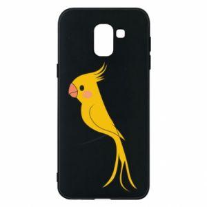 Etui na Samsung J6 Yellow parrot