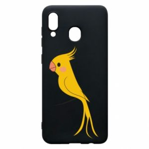 Etui na Samsung A20 Yellow parrot