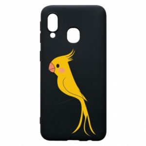 Etui na Samsung A40 Yellow parrot