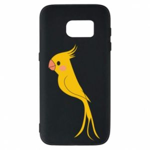 Etui na Samsung S7 Yellow parrot